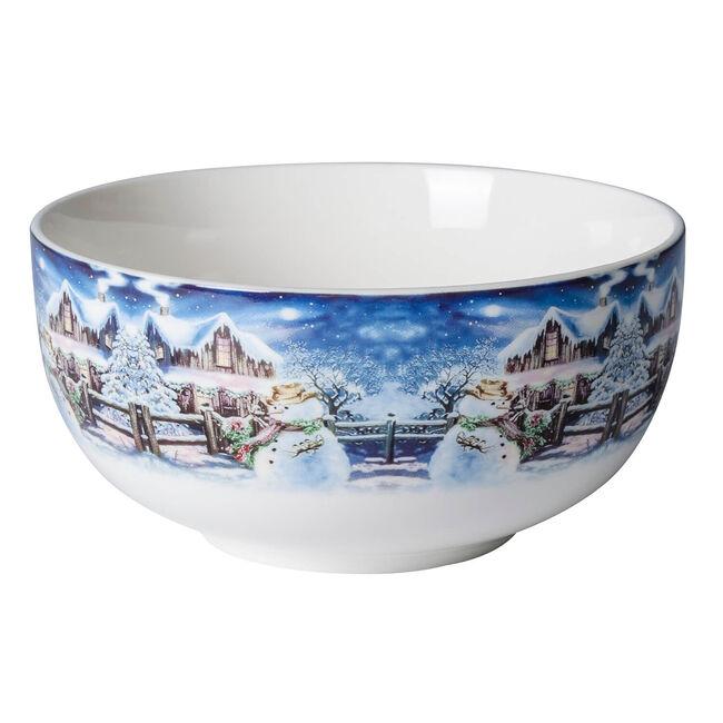 Love Christmas Snowman & Wooden House Bowl