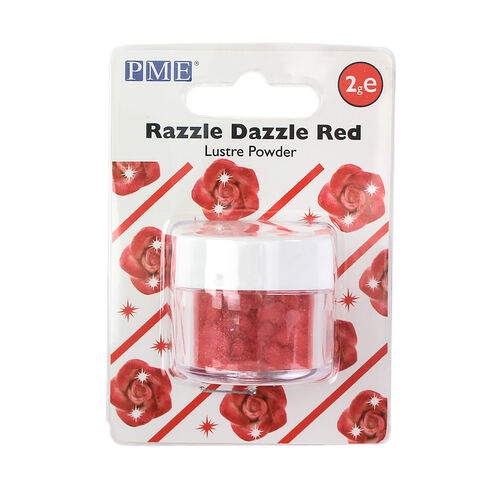 PME Razzle Dazzle Lustre Powder 2g - Red
