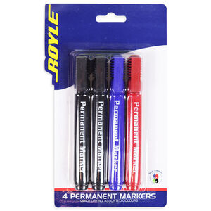 Permanent Marker Pens 4 Pack