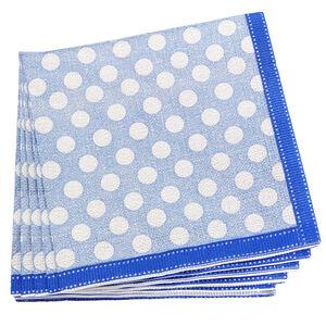 Dotty Blue Napkins 20 Pack