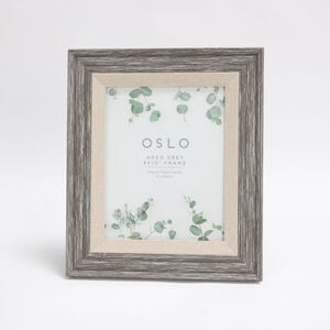 Oslo Aged Grey Photo Frame 8x10""