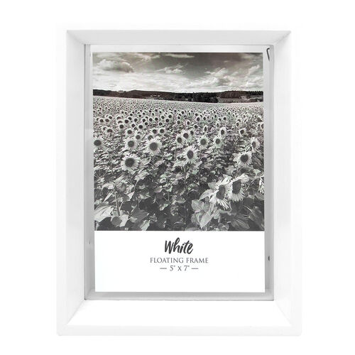 "Floating Matt Frame 5"" x 7"" - White"