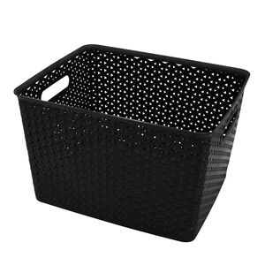 Geometric 19L Black Basket