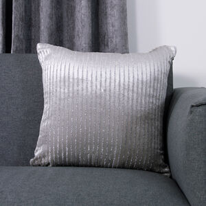 Lurex Silver Cushion Cover 45x45cm 2pk