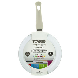 Tower Ceramic Cream Frying Pan 24cm