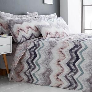 Hannah Grey/Blush Bedspread 200cm x 220cm