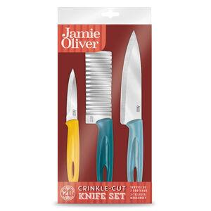 Jamie Oliver Crinkle 3 Piece Knife Set