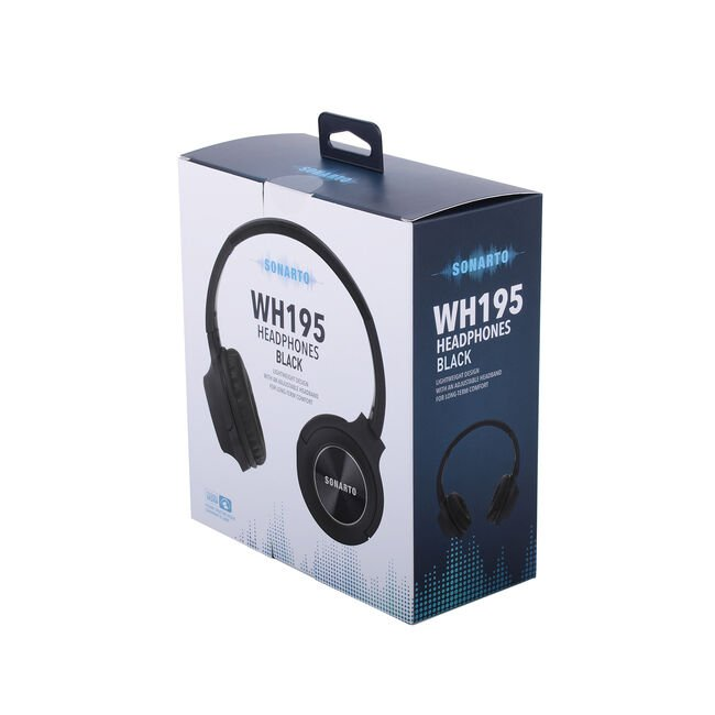 Sonarto WH195 Headphones - Black