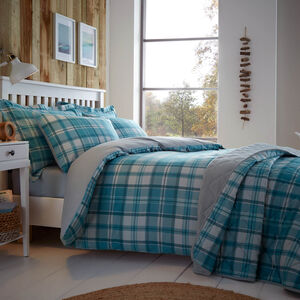 SINGLE DUVET COVER Brushed Cotton Hooper Check
