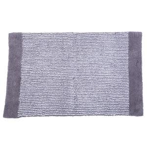 Yarn Dyed Stripe Bath Mat 50x80cm - Grey