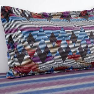Topsy Turvy Berry/Navy Pillowshams 50cm x 75cm