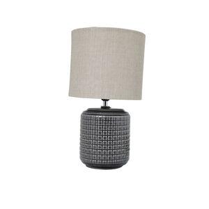 Opio Glazed Table Lamp Charcoal