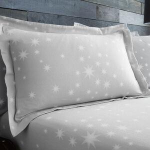 Cotton Stars Grey Oxford Pillowcases