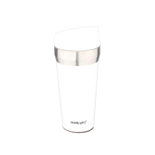 Bodygo Travel Mug with Suction Bottom 380ml White
