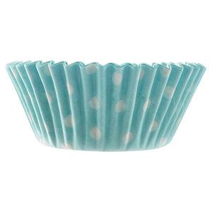 Mason Cash 40 Blue Polka Dot Mini Cupcake Cases