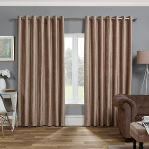 BLACKOUT & THERMAL TEXTURED TAUPE 66x72 Curtain