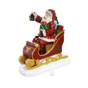 Santa in Sleigh Stocking Holder