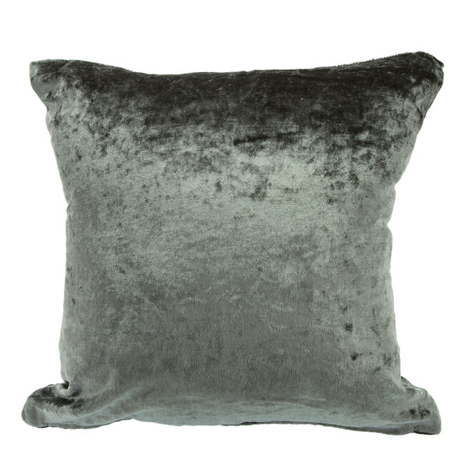 Velvet Crush Cushion Cover 45x45cm - Charcoal