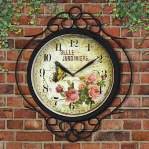 Belle Jardin Garden Wall Clock