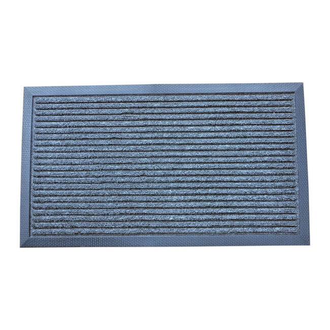 Esteem Stripe Charcoal Door Mat 60x90cm