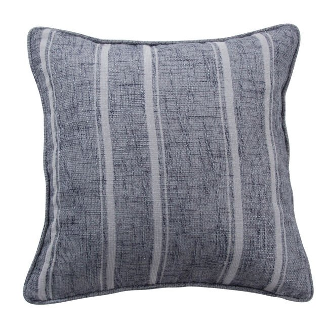 Piper Stripe Cushion 45x45cm - Grey