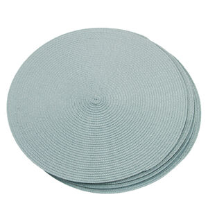 Round Woven Placemat Duck Egg