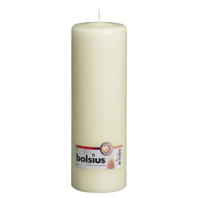 Bolsius Ivory Pillar Candle 25cm x 8cm