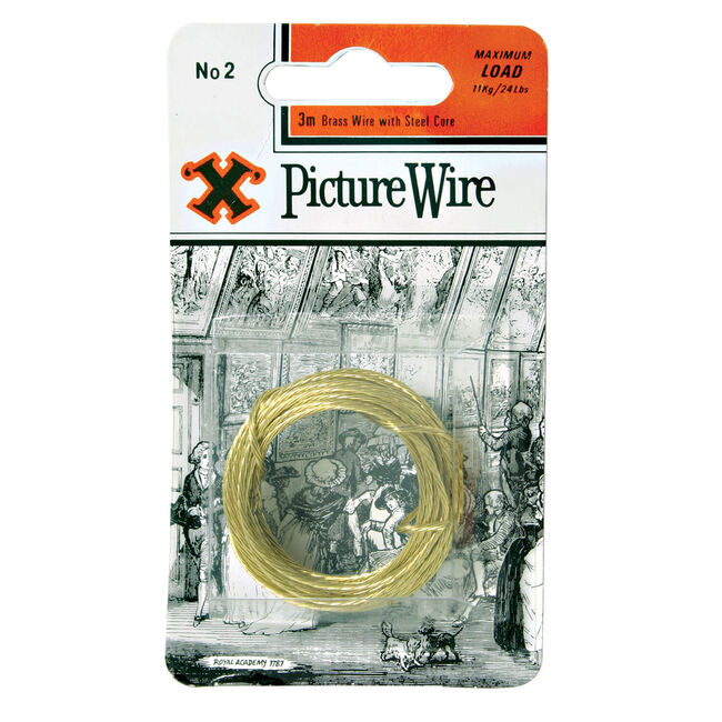 X Picture Wire Brass 3m