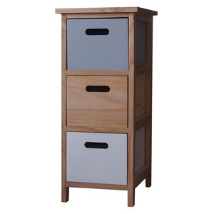 Kari 3 Drawer Charcoal/White Unit