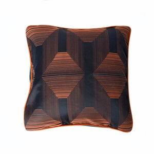 Escape Hexagon Navy/Orange 45 x 45 Cushion