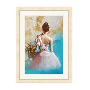 Ballet Dancers Back Study Framed 55cm x 75cm