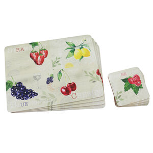 Fruit Mats & Coasters 4Pk