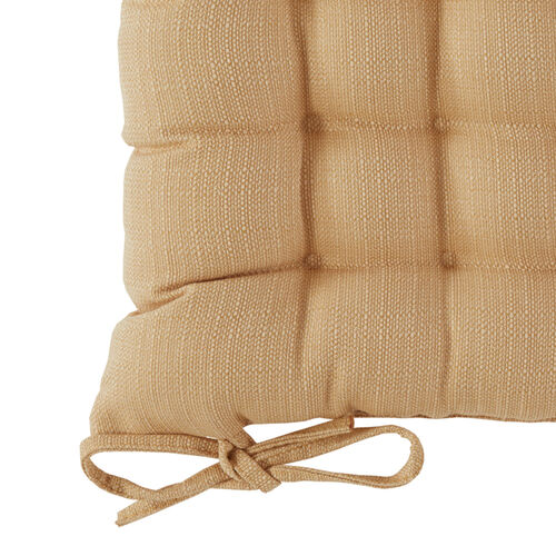Square Woven Ochre Seat Pad