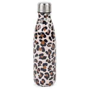 Cambridge Watercolour Leopard Flask Bottle - 500ml