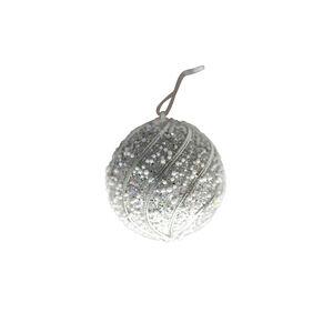 Glitter Bauble Tree Decoration - Silver