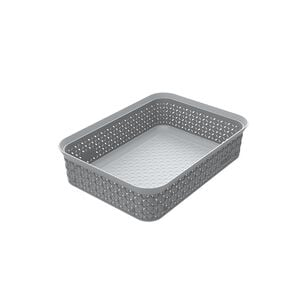 Ezy Mode A5 Storage Tray Stackable Stone Grey