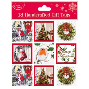 Traditional Christmas Gift Tags 18 Pack