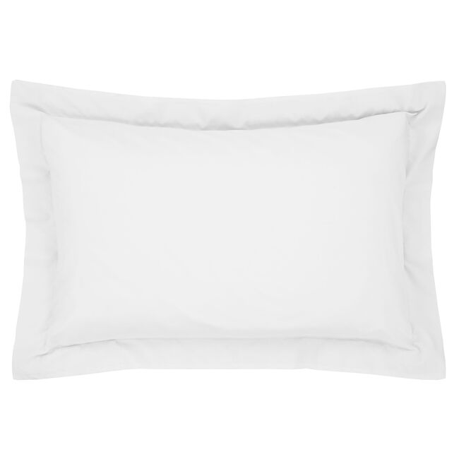 Luxury Percale Oxford Pillowcase Pair - White
