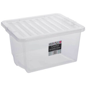Crystal Box & Lid Clear 35L