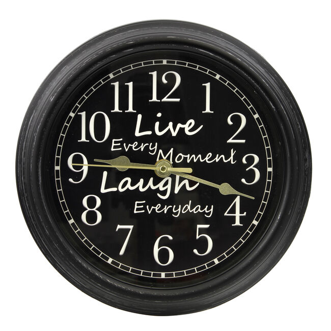 Live Every Moment Wall Clock 9""