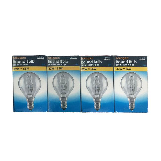 Stylectrix Halogen Round Bulbs 4Pk