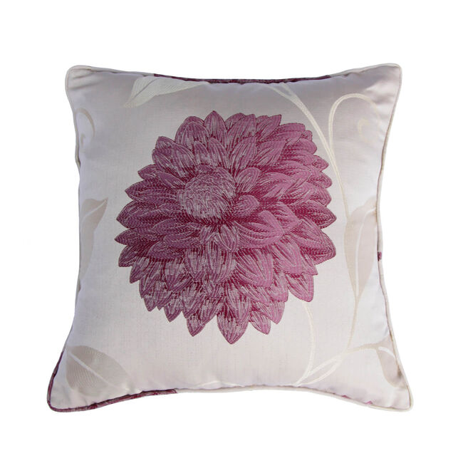 Floral Burst Cushion 45x45cm - Purple