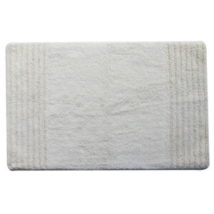 Cotton Metallic Cloud White 50cm x 80cm Bath Mat