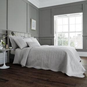 Swirls Bedspread 220cm x 230cm - Silver