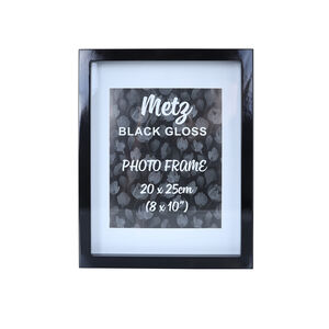 Metz Black Gloss Photo Frame 8x10""