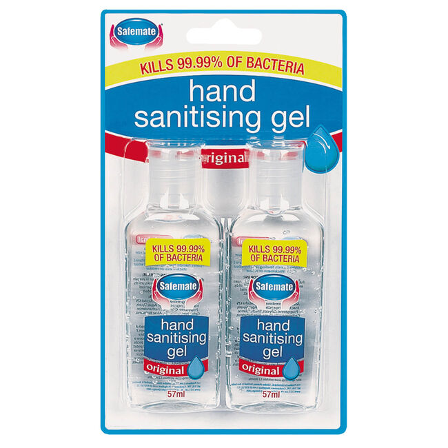Hand Sanitising Gel Travel Size 2 Pack
