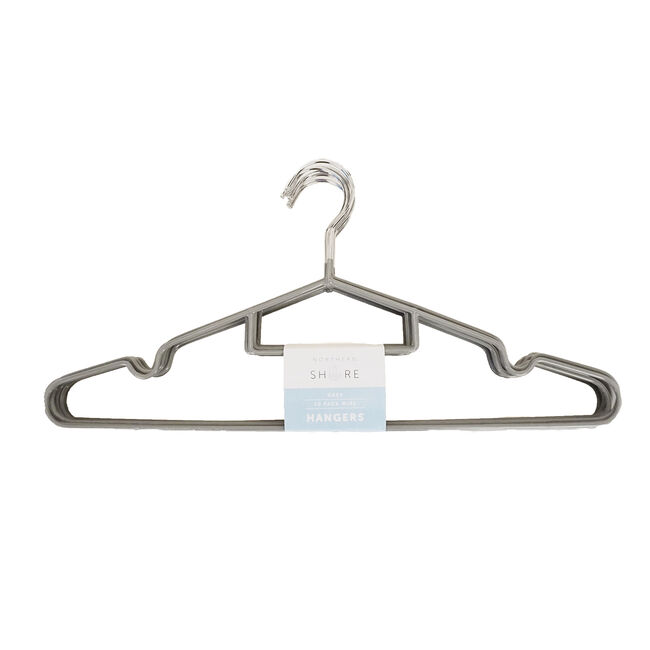 Northern Shore Wire Hangers 10 Pack - Grey