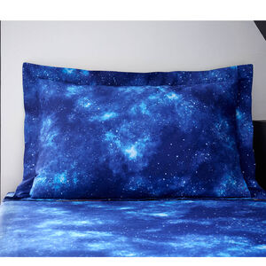 Space Travel Oxford Pillowcase Pair - Navy