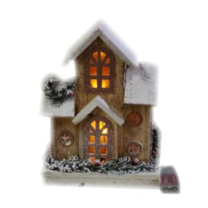 Light Up Wooden Snow House