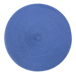 Round Woven Placemat - Blue